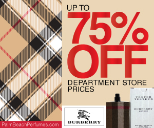 Up to 75% Off Burberry from Palm Beach Perfumes