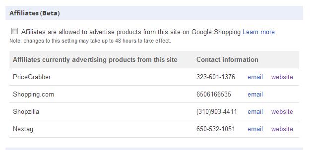 Google Merchant Affiliate Program