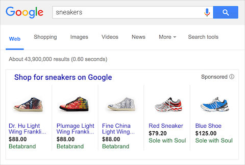 Google Product Listing Ads (PLAs)