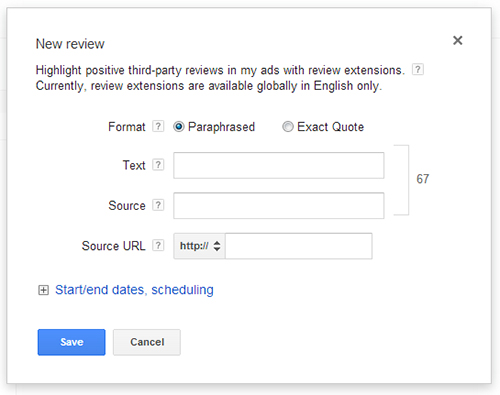Google Review Extension