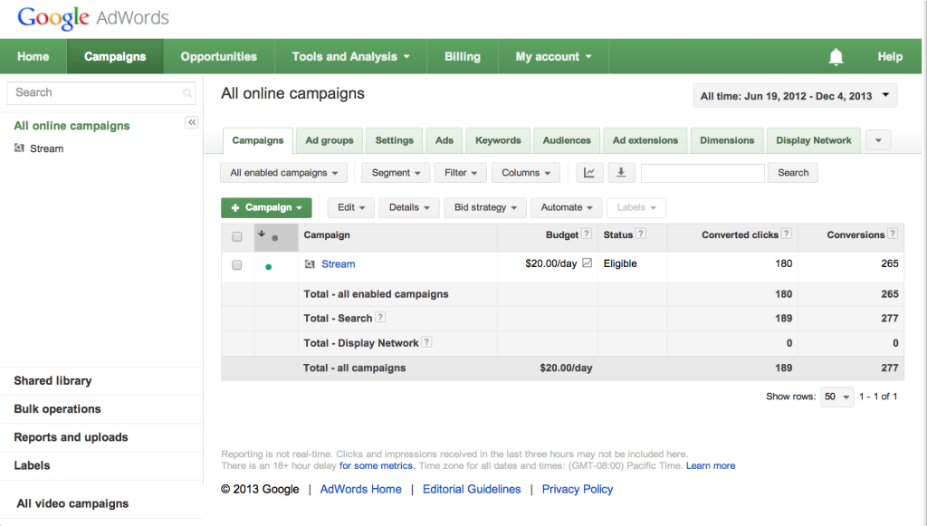 New Adwords Conversion Tracking