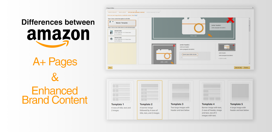 A+ Pages compared to Enhanced Brand Content (EBC)