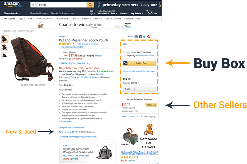 Where is the Buy Box Amazon OperationROI