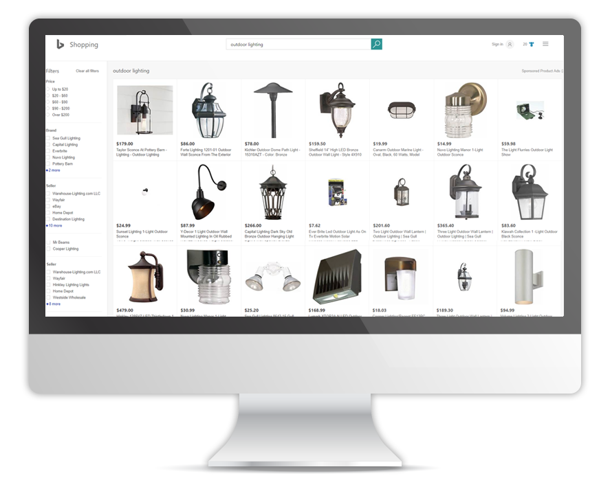 Bing Shopping Product Ads Example OperationROI