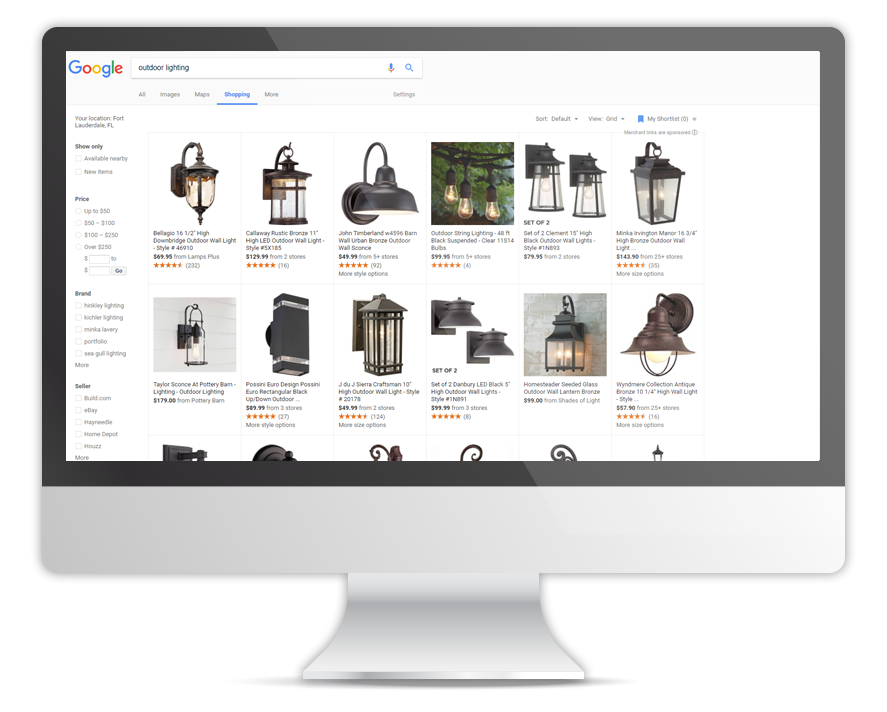Google Product Listing Ads Example OperationROI