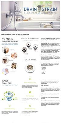 Drain Strain Enhanced Brand Content Example