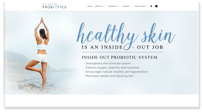Balsam Probiotics Website