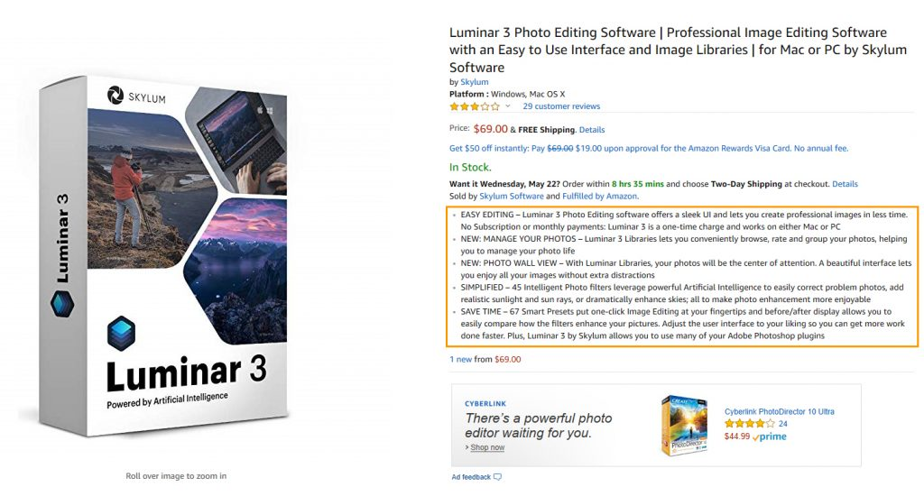 Highlight Amazon Product Detail FocalPoints