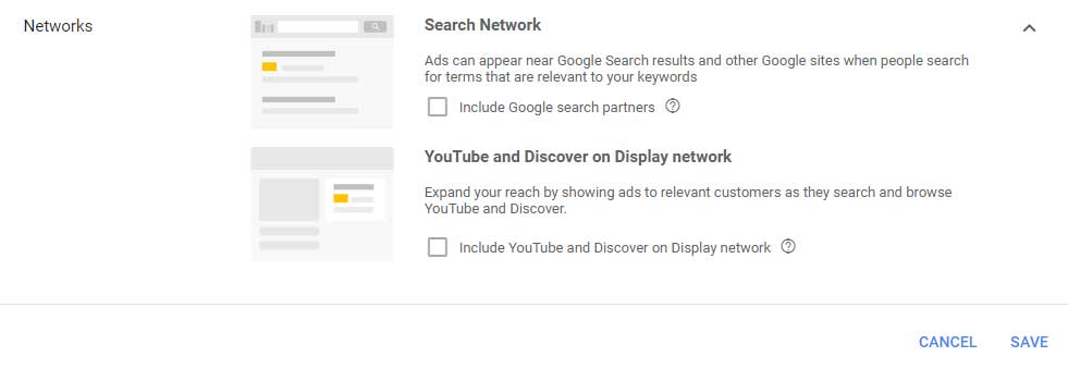 Google Shopping Campaign Network Targeting